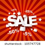 sale poster with percent... | Shutterstock .eps vector #105747728