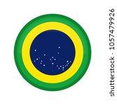 empty brazil campaign button | Shutterstock .eps vector #1057479926