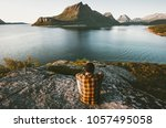 traveler man relaxing with sea...   Shutterstock . vector #1057495058