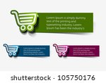 on line shopping web icons ... | Shutterstock .eps vector #105750176