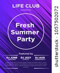party poster for night club.... | Shutterstock .eps vector #1057502072