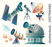 vector cartoon astronomy set....   Shutterstock .eps vector #1057506482