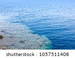the blue hole in dahab  egypt.... | Shutterstock . vector #1057511408