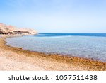 the blue hole in dahab  egypt.... | Shutterstock . vector #1057511438