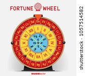 wheel of fortune template with... | Shutterstock .eps vector #1057514582