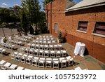 wedding ceremony set up   Shutterstock . vector #1057523972