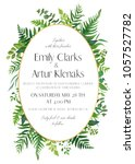 wedding floral invitation ... | Shutterstock .eps vector #1057527782
