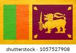 flag of sri lanka with chalk... | Shutterstock . vector #1057527908