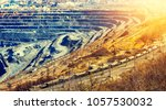 a great quarry. rails  the... | Shutterstock . vector #1057530032