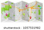 map city atalanta | Shutterstock .eps vector #1057531982