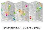 map city dijon | Shutterstock .eps vector #1057531988