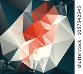 vector low polygonal... | Shutterstock .eps vector #1057542545