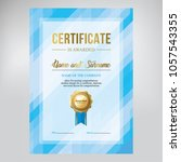 certificate design  diploma... | Shutterstock .eps vector #1057543355
