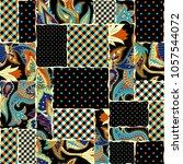seamless background pattern.... | Shutterstock .eps vector #1057544072