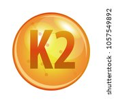 vitamin k2 capsule. vector icon ... | Shutterstock .eps vector #1057549892