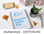 rsv respiratory syncytial virus ... | Shutterstock . vector #1057556192