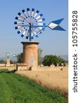 Typical Windmill In Mallorca...
