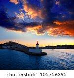 Eibissa Ibiza Town Sunset From...
