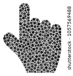 pointer finger composition of...