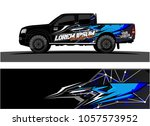 truck graphic kit. abstract ... | Shutterstock .eps vector #1057573952