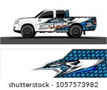 truck graphic kit. abstract ... | Shutterstock .eps vector #1057573982