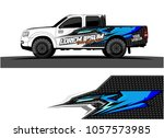 truck graphic kit. abstract ... | Shutterstock .eps vector #1057573985