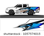 truck graphic kit. abstract ... | Shutterstock .eps vector #1057574015
