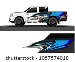 truck graphic kit. abstract ... | Shutterstock .eps vector #1057574018