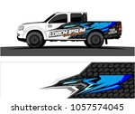 truck graphic kit. abstract ... | Shutterstock .eps vector #1057574045