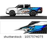 truck graphic kit. abstract ...   Shutterstock .eps vector #1057574075