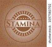 stamina retro style wood ... | Shutterstock .eps vector #1057583702