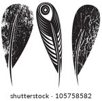 a set of feathers | Shutterstock .eps vector #105758582