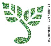 sprout collage of round dots in ... | Shutterstock . vector #1057588415