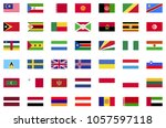world flag collection flat icons | Shutterstock .eps vector #1057597118