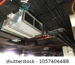 installation of air handing...   Shutterstock . vector #1057606688
