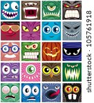 avatars  set of 20 square...