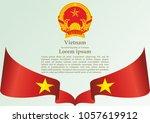 flag of vietnam  socialist...   Shutterstock .eps vector #1057619912