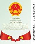 flag of vietnam  socialist... | Shutterstock .eps vector #1057619915