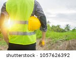 back view of engineer ... | Shutterstock . vector #1057626392