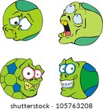 ugly and funny green balls. set ... | Shutterstock .eps vector #105763208