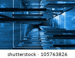 futuristic blue technical space ... | Shutterstock . vector #105763826