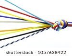 multi colored coiled rope... | Shutterstock . vector #1057638422