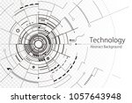 technology composition black... | Shutterstock .eps vector #1057643948
