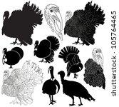 Vector Illustration Of Turkey...