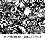 grunge pattern. abstract design.... | Shutterstock .eps vector #1057647935