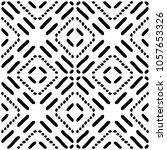 black and white seamless ethnic ... | Shutterstock .eps vector #1057653326