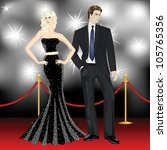 famous luxury couple  fashion... | Shutterstock .eps vector #105765356