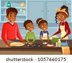 afro american black family... | Shutterstock .eps vector #1057660175