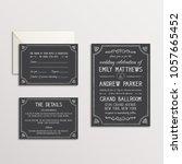 chalk wedding invitation suite  ... | Shutterstock .eps vector #1057665452