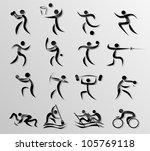 sport icon set | Shutterstock .eps vector #105769118